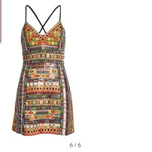 Alice and olivia tayla embroidered dress